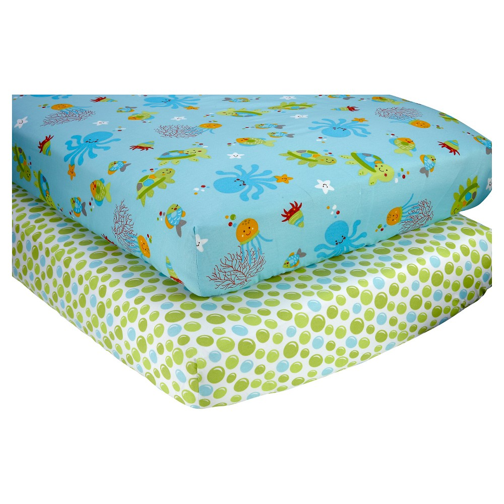 Image of Little Bedding by NoJo Ocean Dreams Sheet Set (2pk), Multi-Colored