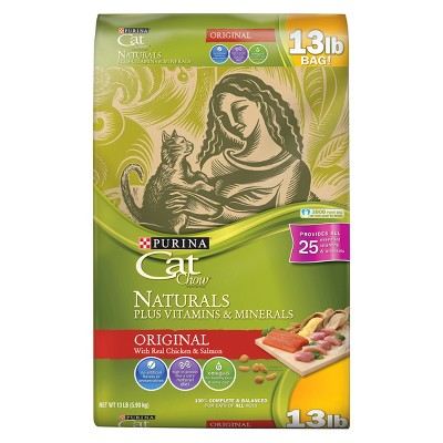 Purina® Cat Chow Naturals Original Plus Vitamins & Minerals Dry Cat Food - 13lbs