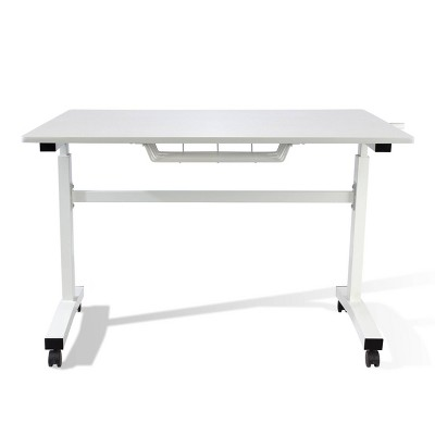 Sit and Stand Adjustable Height Desk with Casters - Atlantic