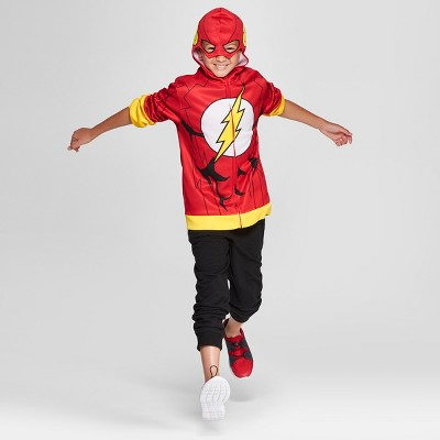 Boysu0027 The Flash Costume Hoodie   Red