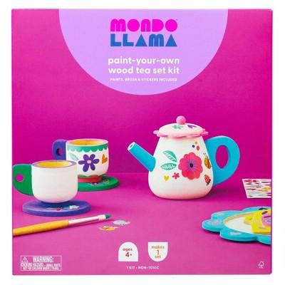 Paint-Your-Own Wood Tea Set Kit - Mondo Llama™