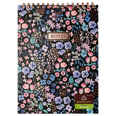 """8"""" x 10"""" 80 Sheet Lined Spiral Notepad Ditsy Floral - greenroom"""