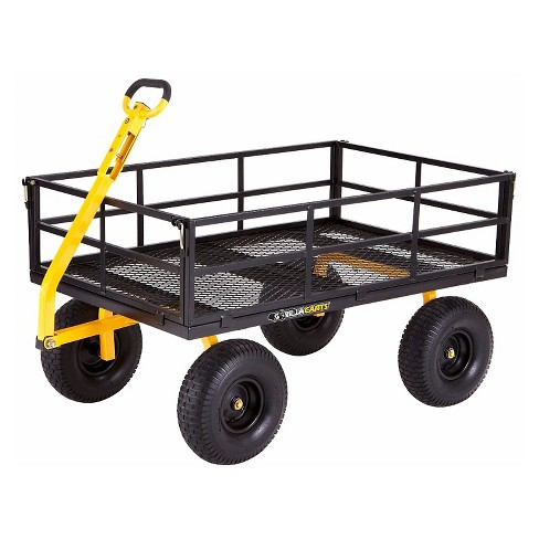 Gorilla Carts Extra Heavy-Duty Steel Utility Cart with Removable Sides and Pneumatic Tires, 1400-Pound Capacity - image 1 of 5