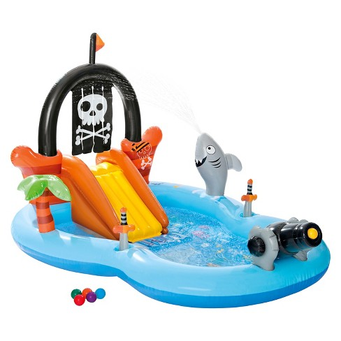 Intex 97 x 76 x 59 pirate play center inflatable pool - Inflatable pirate ship swimming pool ...
