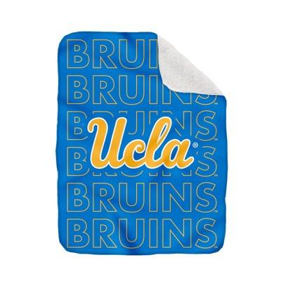 NCAA UCLA Bruins Collegiate Echo Wordmark Plush Throw Blanket