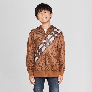 Boys' Star Wars Chewbacca Costume Hoodie - Brown M