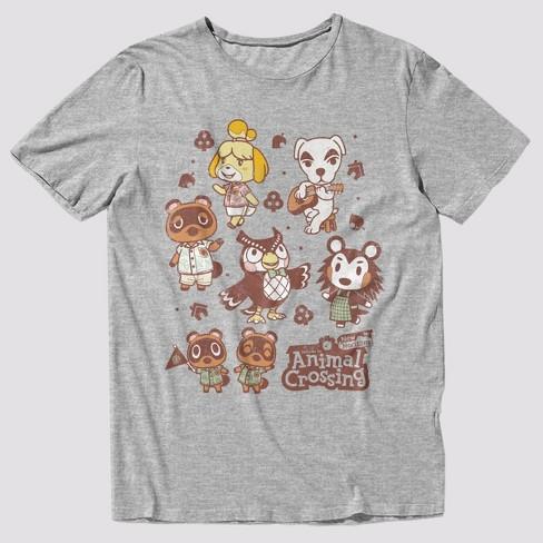 Men's Animal Crossing Short Sleeve Graphic T-Shirt - Light Gray Heather  - image 1 of 1