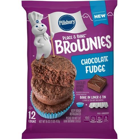 Pillsbury Ready To Bake Chocolate Fudge Brownies - 16oz/12ct - image 1 of 3