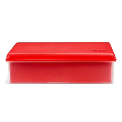 Fit & Fresh Bento Lunch Box - Red/Blue