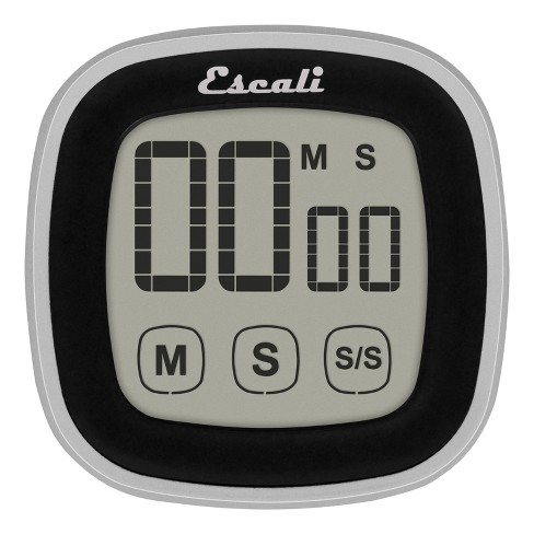 Escali Touch Screen Digital Timer Black - image 1 of 4