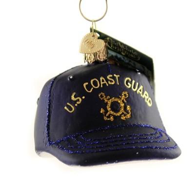 Old World Christmas 2 5 Coast Guard Cap U S Military Tree Ornaments Target