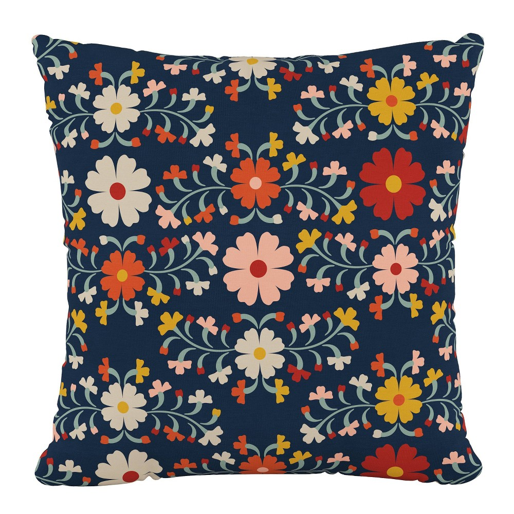 """Image of """"18""""""""x18"""""""" Polyester Pillow in Juana Navy - Cloth & Company"""""""