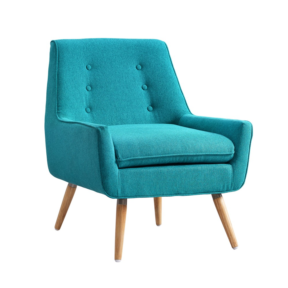 Trellis Upholstered Chair - Blue - Linon, Bright Blue