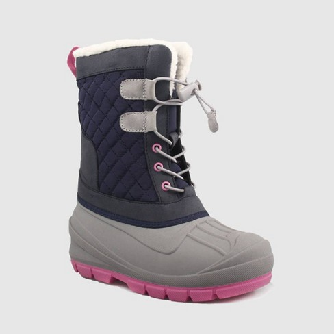Girls' Emory Winter Boots - Cat & Jack™ Navy - image 1 of 4