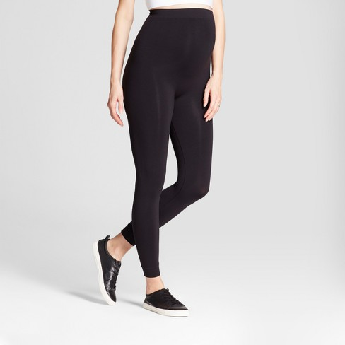 Maternity Seamless Footless Tight Belly Leggings - Isabel Maternity by Ingrid & Isabel™ Black - image 1 of 2