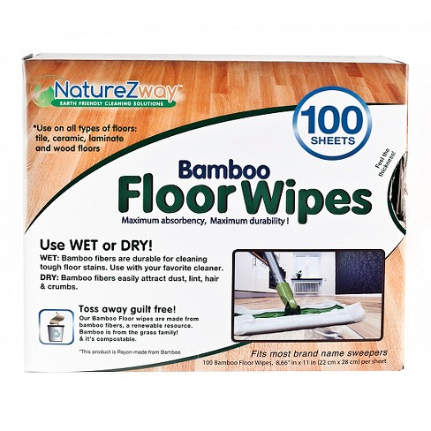 NatureZway Rayon made from Bamboo Floor Wipe - 100 Sheet - image 1 of 1