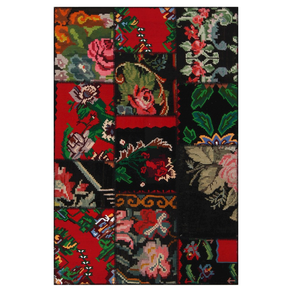 "Image of ""Accent Rug Tribal Patchwork Floral 3'11""""5'11"""", Multi-Colored"""