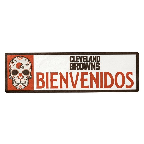 NFL Cleveland Browns Outdoor Bienvenidos Step Decal - image 1 of 2