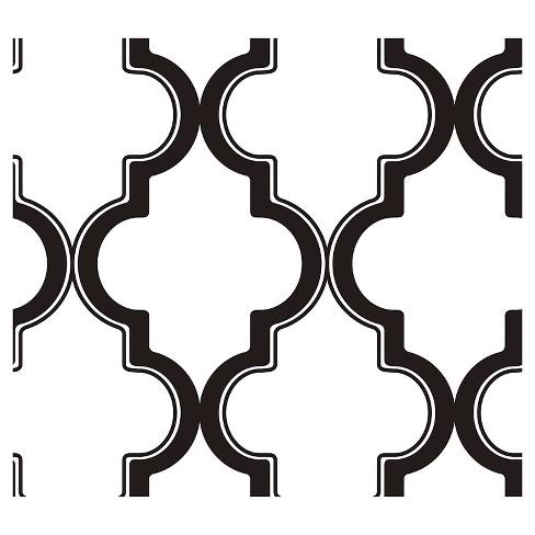 Devine Color Cable Stitch Peel & Stick Wallpaper Black/White - image 1 of 4