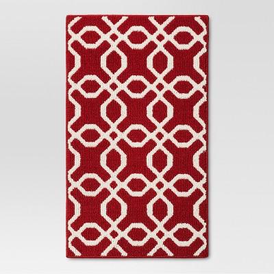 1'8 x2'10  Trellis Accent Rug Red - Threshold™