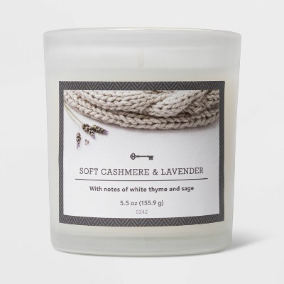 5.5oz Glass Jar Cashmere and Lavender Candle - Threshold™