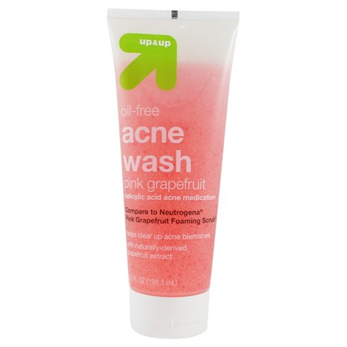 Acne Wash Pink Grapefruit 6.7oz - Up&Up™ (Compare to Neutrogena Pink Grapefruit Foaming Scrub) - image 1 of 1