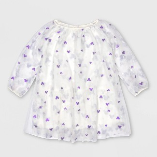 Toddler Girls' Disney Mickey Mouse A-line Dress - White 2T