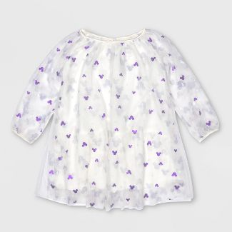 Toddler Girls' Disney Mickey Mouse A-line Dress - White 3T