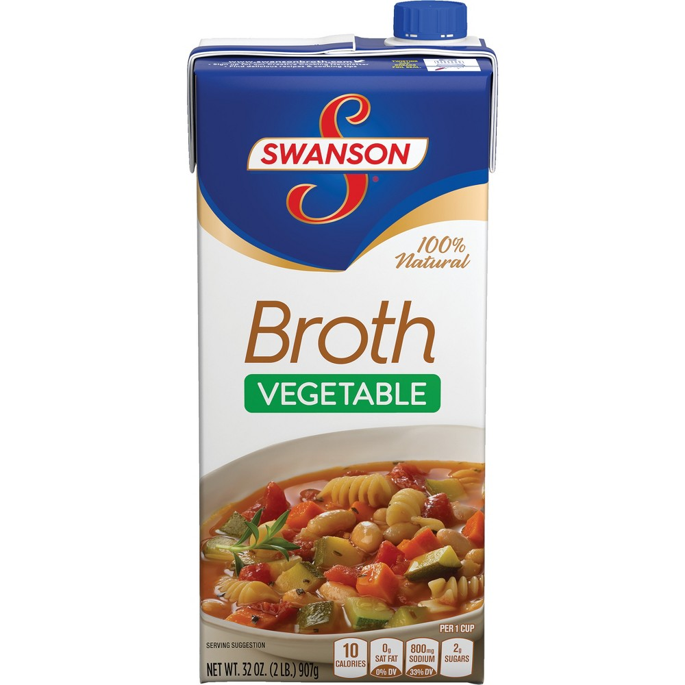 Swanson 100% Natural Vegetable Broth 32 oz, Cappuccino
