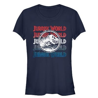 Junior's Jurassic World: Fallen Kingdom 4th of July Logo T-Shirt