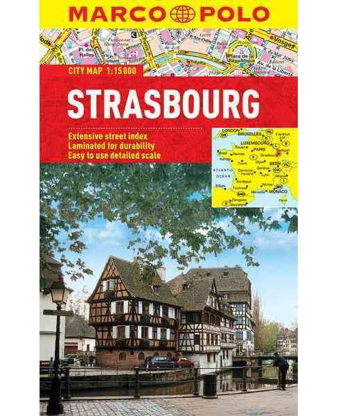 Marco Polo City Map Strasbourg (Paperback) - image 1 of 1