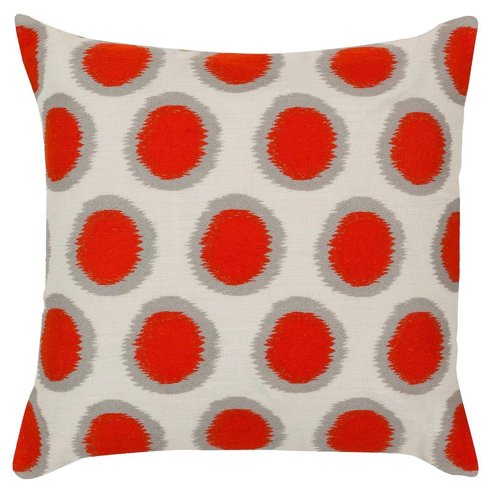 Poppy Ikat Dots Throw Pillow 18