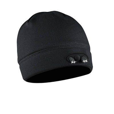 POWERCAP Adult 4 LED Compression Fleece Cap - Black