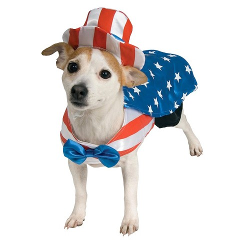 Uncle Sam Dog Costume - Red/White/Blue - image 1 of 1
