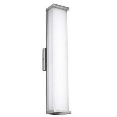 """Feiss Altron 24"""" 1 Light LED Polished Stainless Steel Indoor-Outdoor Sconce WB1864PST-L1"""