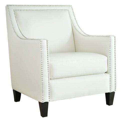 Nixon Faux Leather Nailhead Armchair - Abbyson Living - image 1 of 4