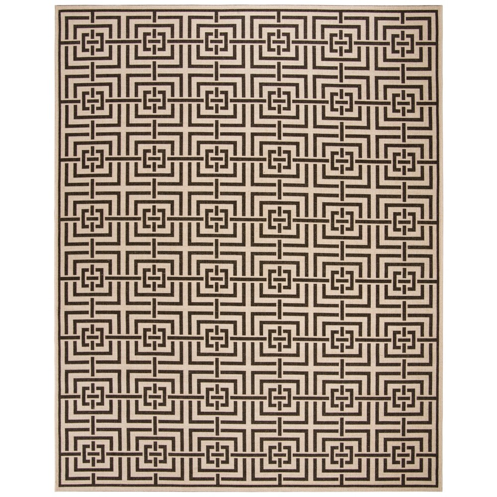 9'X12' Geometric Loomed Area Rug Natural/Brown - Safavieh