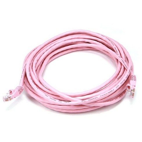 20FT Cat5e 350MHz Network RJ45 Network Cable Pink