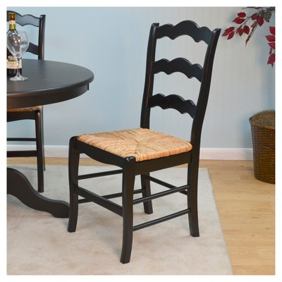 Charlotte Ladder Back Chair   Antique Black   Carolina Chair And Table :  Target