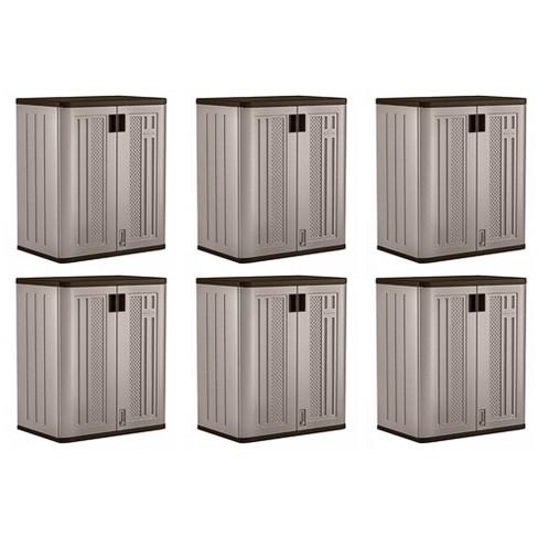 Suncast 9 Cu Ft Heavy Duty Resin Garage Base Storage Cabinet, Platinum (6 Pack) - image 1 of 4