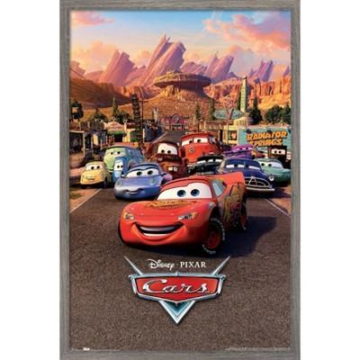 Trends International Disney Pixar Cars - One Sheet Framed Wall Poster Prints