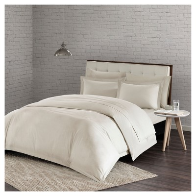 Ivory Comfort Wash Duvet Cover Mini Set (King/California King)