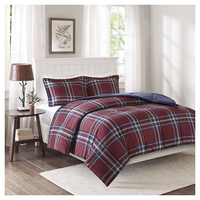 Bengston 3M Scotchgard Down Alternative Comforter Set (Full/Queen)Red - 3pc