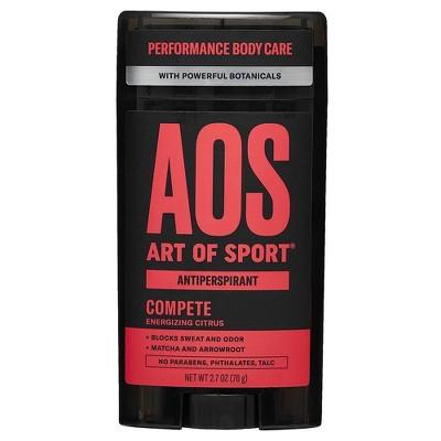 Art Of Sport Compete Men's Antiperspirant & Deodorant - 2.7oz