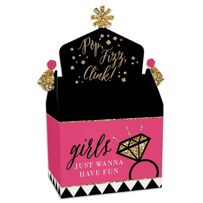 Big Dot of Happiness Girls Night Out - Treat Box Party Favors - Bachelorette Party Goodie Gable Boxes - Set of 12