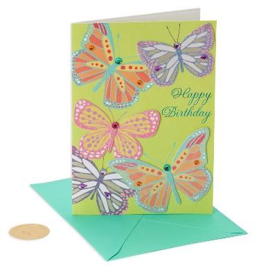 Papyrus Butterflies Birthday Card