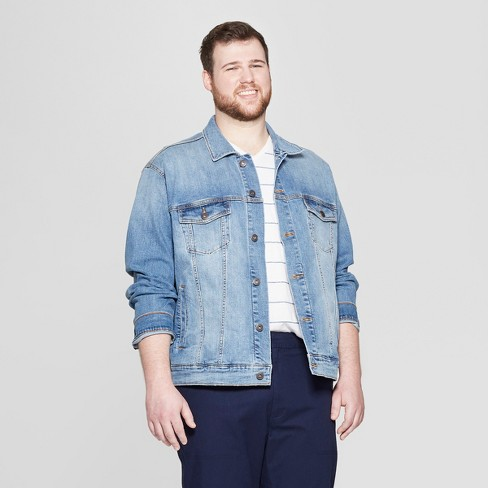 Men's Big & Tall Denim Jacket - Goodfellow & Co™ Light Wash - image 1 of 2