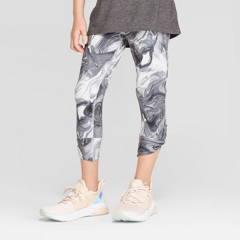 Girls' Marble Print Twist Capri Leggings - C9 Champion® - image 1 of 3