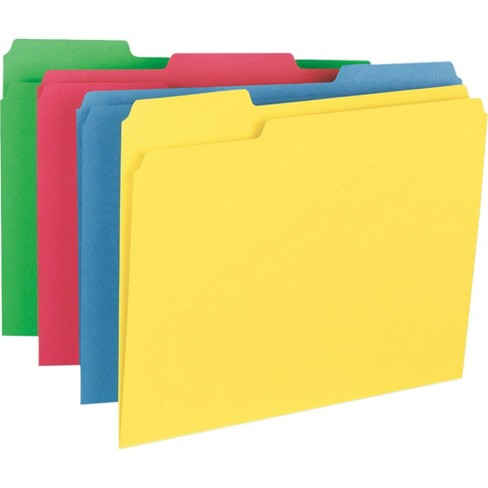 Business Source 50ct 1/3 Cut Tab Heavyweight Color File Folders - image 1 of 4