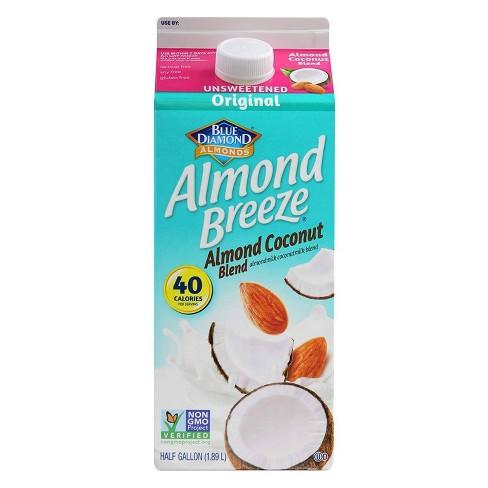 Blue Diamond Almond Breeze Unsweetened Original Almond Coconut Milk Blend - 0.5gal - image 1 of 1